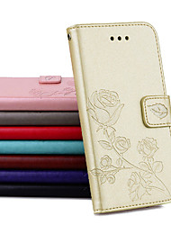 cheap -Case For Samsung Galaxy J3(2017)/J5(2017)/J7(2017)Palace flower PU Leather with Card Slot Flip up and down  For Galaxy J3J310J510J710