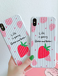 cheap -Case For Apple iPhone 11 / iPhone XS / iPhone XR Pattern Back Cover Food TPU