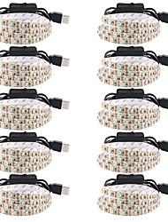 cheap -0.5m USB LED Strip Lights Flexible Tiktok Lights 30 LEDs SMD3528 5mm Warm White White Red Waterproof Party Decorative 5 V 10pcs