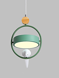 cheap -1-Light Nordic macaron three-head dining room lamp led bedroom single head bar hallway chandelier