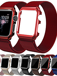 cheap -Milanese Loop Wrist Strap Band With Case For Apple Watch Series 5/4/3/2/1 Replacement Band Metal Protective Case 38mm 40mm 42mm 44mm