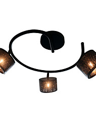cheap -3-Light Flush Mount Lights Ambient Light Painted Finishes Metal Eye Protection, New Design 110-120V / 220-240V