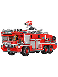 cheap -Building Blocks 720 pcs Fire Engine compatible PP+ABS Legoing Cute All Toy Gift / Kids