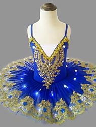 cheap -Ballet LED Layered Tutu Bubble Skirt Under Skirt Girls' Kid's Tulle Costume Black / White / Purple Vintage Cosplay Party Halloween Princess / Dress / Dress