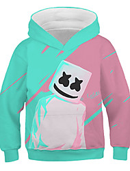 cheap -Kids Girls' Active Street chic Print Print Long Sleeve Hoodie & Sweatshirt Rainbow