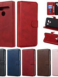 cheap -Case For LG Q Stylus K50 Phone Case PU Leather Material Solid Color Pattern Phone Case for LG K40 V50 V40 V30