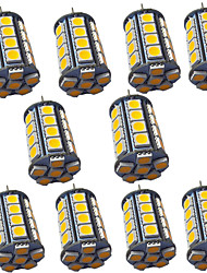 cheap -10pcs 4 W LED Bi-pin Lights 400 lm G4 GY6.35 30 LED Beads SMD 5050 Warm White White 9-30 V