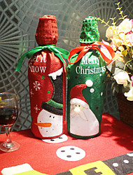 cheap -Creative Embroidered Old Man Snowman Christmas Wine Gift Bag Sequined Champagne Bottle Set