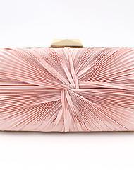 abordables -Femme Polyester / Alliage Pochette Couleur unie Rose Claire