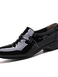cheap -Men's Leather Shoes PU Fall / Spring & Summer Business Loafers & Slip-Ons Walking Shoes Breathable Black / White / Party & Evening