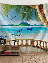 cheap -Beach Theme / Garden Theme Wall Decor 100% Polyester Classic / Modern Wall Art, Wall Tapestries Decoration