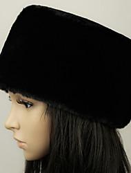cheap -Unisex Basic Fauxfur Floppy Hat-Solid Colored Winter Black White Camel