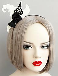 cheap -Women's Headbands For Halloween Theme Party Flower Series Classic Fabric Iron Black 1