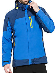 cheap -Men's Hiking Jacket Winter Outdoor Patchwork Waterproof Windproof Warm Comfortable Jacket Top Climbing Camping / Hiking / Caving Traveling Black / Orange / Yellow / Green / Royal Blue