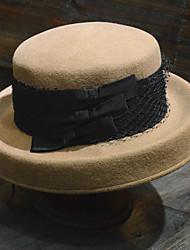 Недорогие -Чудесная миссис Мейзел Жен. Взрослые Дамы Ретро Колпак шляпа шляпа Коричневый Полосы / волосы Шерсть Головные уборы Лолита Аксессуары