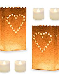 abordables -10pcs bougies chauffe-plat à scintillement sans flamme à piles, bougie chauffe-plat votive, bougies chauffe-plat électriques, blanc chaud pour anniversaire de mariage romantique