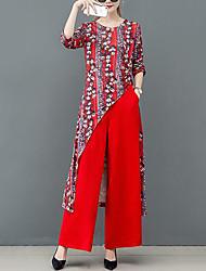 cheap -Women's Street chic Set - Floral Pant