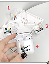 Недорогие -Кейс для Назначение AirPods Очаровательный / Защита от пыли Чехол для наушников Мягкий