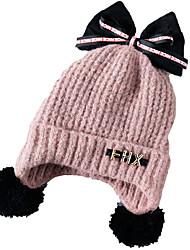 cheap -Kids / Toddler Boys' / Girls' Active / Basic / Sweet Solid Colored / Cartoon Stylish / Knitting Cotton / Roman Knit Hats & Caps Black / Blushing Pink / Yellow One-Size