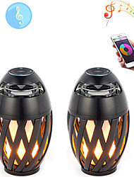 cheap -2pcs 5 W 3000 lm 60 LED Flame Lamp Beads Bluetooth Speaker Cool LED Stage Light Spot Light Warm Yellow 5 V Commercial Stage Home/Home Night Light /Flame BulbOffice