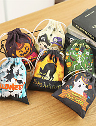 cheap -Cute funny Witch candy bag Halloween gift bags holiday supplies trick or treat bag Goodie storage stand for children