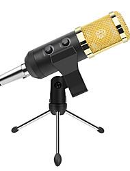 abordables -Microphone à condensateur professionnel câblé usb avec trépied avec capuchon en mousse à montage en amortisseur à volume réglable