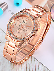 cheap -Women's Quartz Watches New Arrival Fashion Silver Gold Rose Gold Stainless Steel Chinese Quartz Rose Gold Gold Silver Chronograph Cute New Design 1 set Analog One Year Battery Life