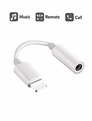 Недорогие -Разъем для подключения наушников с разъемом Lightning / 3,5 мм для iphone xs / xs max / xr / iphone 8/8 plus / x (10) / 7/7 plus ipad и другое управление музыкой&усилитель, усилитель; вызывающая