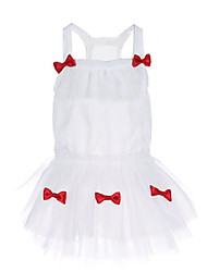 cheap -Dogs Dress Dog Clothes White Costume Baby Small Dog Polyster Solid Colored Wedding S M L