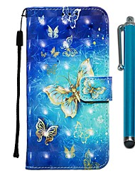 cheap -Case For Apple iPhone 11 / iPhone 11 Pro / iPhone 11 Pro Max Wallet / Card Holder / with Stand Full Body Cases Golden Butterfly PU Leather for iPhone X / Xs / Xr / Xs Max / 8 Plus / 6s Plus