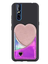 cheap -Case For Vivo VIVO X27 / Vivo V15 / Vivo V15PRO Card Holder Back Cover Solid Colored / Heart PU Leather / TPU