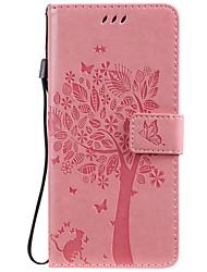 Недорогие -чехол для xiaomi mi cc9 cc9e чехол для телефона искусственная кожа материал с тиснением кошка и дерево шаблон сплошной цвет чехол для телефона