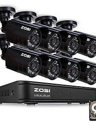 cheap -ZOSI HD 8 Channel CCTV System 8CH 1080N DVR 8PCS 1MP 720P Outdoor Waterproof Video Night Vision System Surveillance DVR Kit HDD 1TB Hard Disk Motion Detection Email Alert