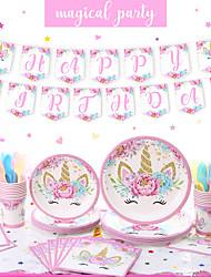 cheap -Party / Birthday Party Accessories Ornaments Splicing Plastic / Pure Paper Classic Theme / Unicorn / Creative
