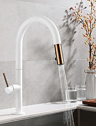 cheap -Kitchen faucet - Single Handle One Hole Electroplated / Painted Finishes Pull-out / ­Pull-down / Tall / ­High Arc Free Standing Contemporary / Antique Kitchen Taps