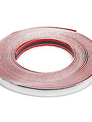 cheap -20mmX15m Chrome Universal Car Decor Trim Scratch Resistant Bar Molding Adhesive Strip