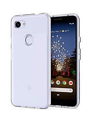 cheap -Case For Google Google Pixel 3 XL / Google Pixel 3a XL / Google Pixel 3a Dustproof / Ultra-thin / Transparent Back Cover Solid Colored TPU