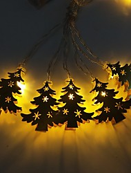 cheap -3m Golden Wrought Iron Christmas Tree String Lights 20 LEDs Warm White RGB White Creative Party LED Christmas Lantern Decorative AAA Batteries Powered 1 set
