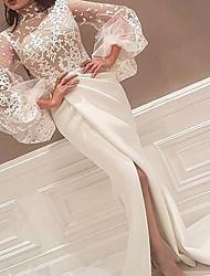 Недорогие -Жен. С летящей юбкой Платье - Однотонный Ассиметричное