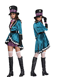 cheap -Fairytale Cosplay Costume Women's Halloween Carnival New Year Festival / Holiday Terylene Women's Carnival Costumes Patchwork / Gloves / Headwear
