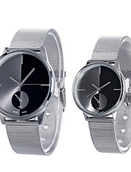 cheap -Couple's Dress Watch Quartz Casual Watch Analog Fashion - Black