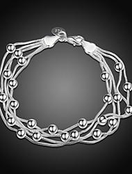 abordables -Bracelet Homme Femme Classique Etoile Mode Bracelet Bijoux Argent pour Quotidien