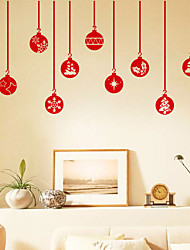 cheap -Decorative Wall Stickers - Plane Wall Stickers / Holiday Wall Stickers Christmas Decorations Bedroom / Dining Room
