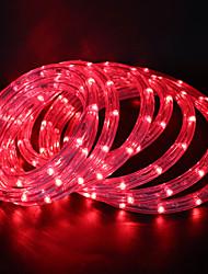 Недорогие -10 м Гибкие светодиодные ленты 360 светодиоды 1 комплект Тёплый белый / Белый / Красный Для вечеринок / Декоративная / Свадьба 85-265 V