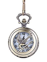 Недорогие -Муж. Карманные часы Кварцевый Старинный Творчество Новый дизайн Повседневные часы Аналого-цифровые На каждый день - Бронзовый