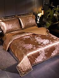 cheap -Satin Jacquard  Wedding 4 Piece Tencel Modal Lace Big Lace Bedding Set