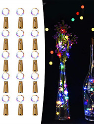 cheap -20pcs 15-LED 0.75M Copper Wire Bottle Stopper String Lights for Glass Craft Bottle Fairy Valentines Wedding Decoration Party
