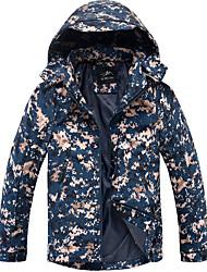 cheap -Men's Hoodie Jacket Hiking Jacket Winter Outdoor Camo Waterproof Windproof Warm Soft Jacket Top Softshell Camping / Hiking / Caving Traveling Light Green / Green / Blue / Khaki
