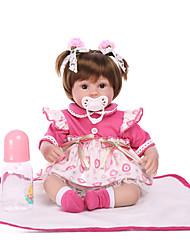 Недорогие -NPK DOLL 22 дюймовый Куклы реборн Куклы Мальчики Девочки Безопасность Подарок Очаровательный с одеждой и аксессуарами на день рождения и праздничные подарки для девочек / Дети