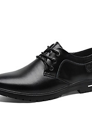 cheap -Men's Formal Shoes Nappa Leather Fall Oxfords Black / Brown / Party & Evening / Party & Evening